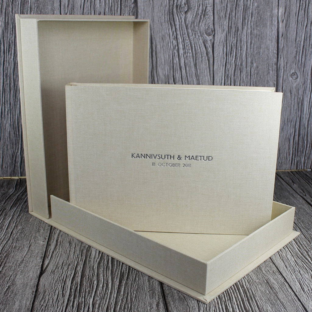 Sand Linen Clamshell Box (Box Only)