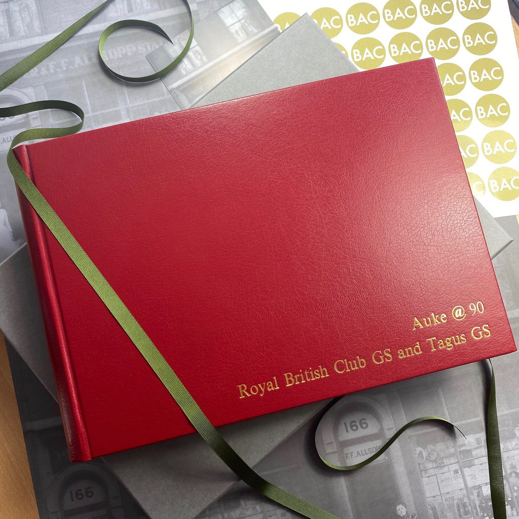 Red Leather Photo Booth Guest Book