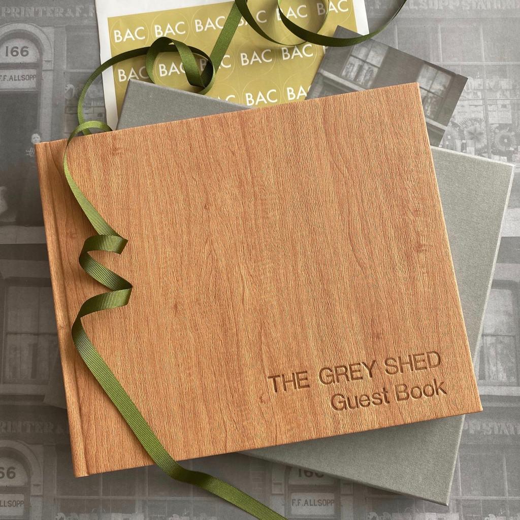 Visitor Guest Book | Wood Effect Finish | Oak