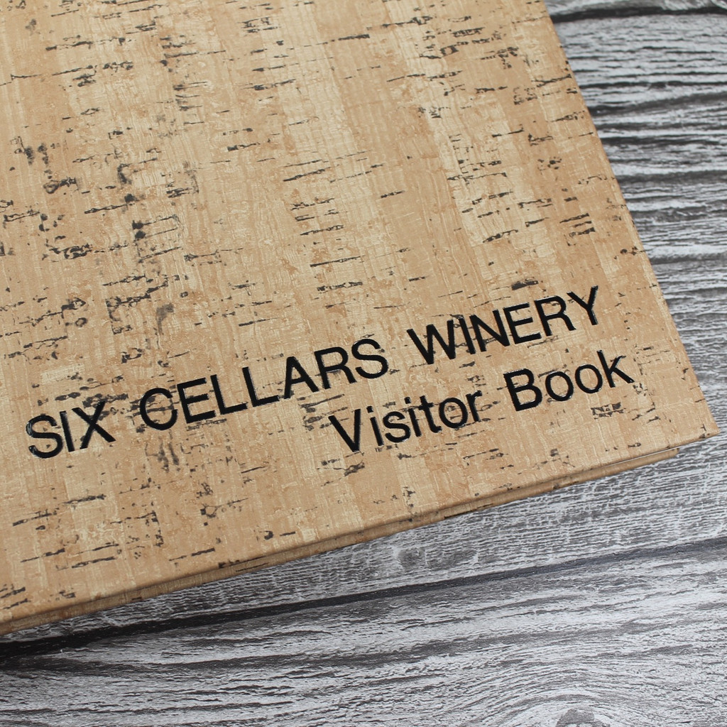 Visitor Guest Book | Cork Effect Finish