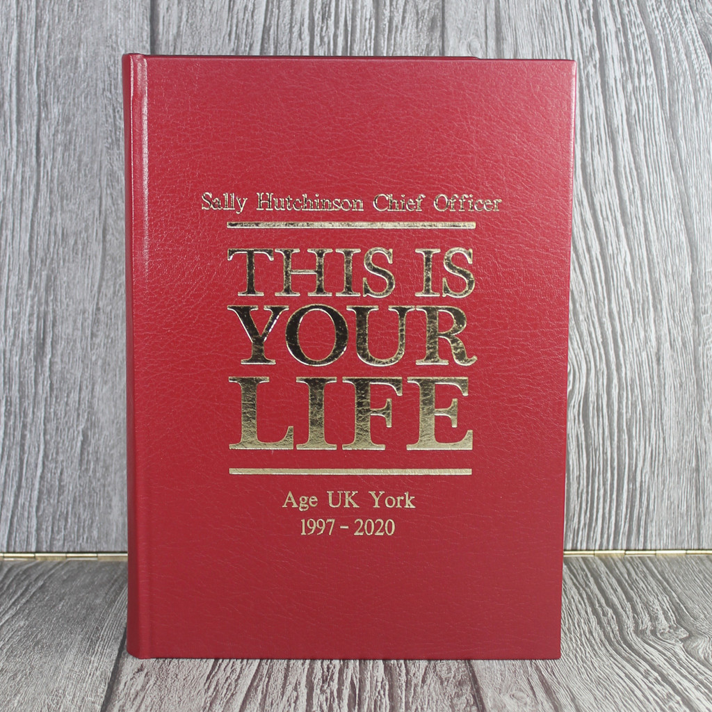 A4 'This Is Your Life' Style Red Photo Album Scrapbook
