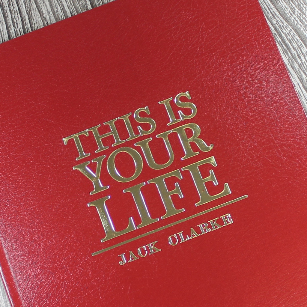 A3 'This Is Your Life' Style Red Photo Album Scrapbook