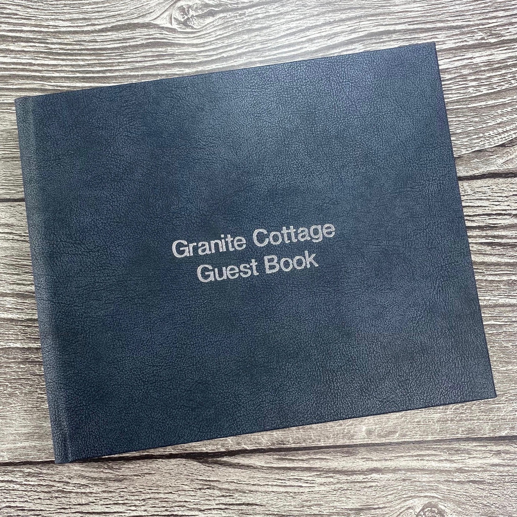 Visitor Guest Book - Granite Grey Vintage Effect Leather
