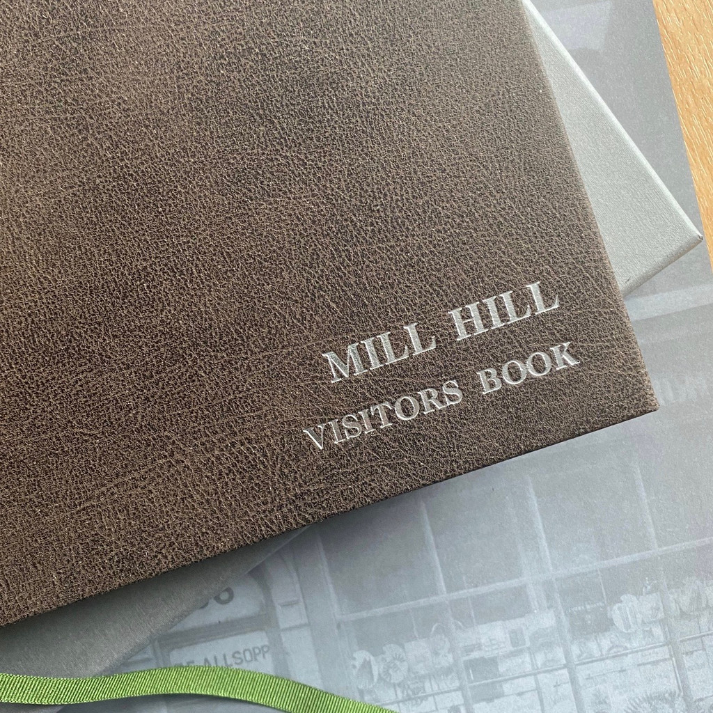 Visitor Guest Book- Brown Vintage Effect Leather