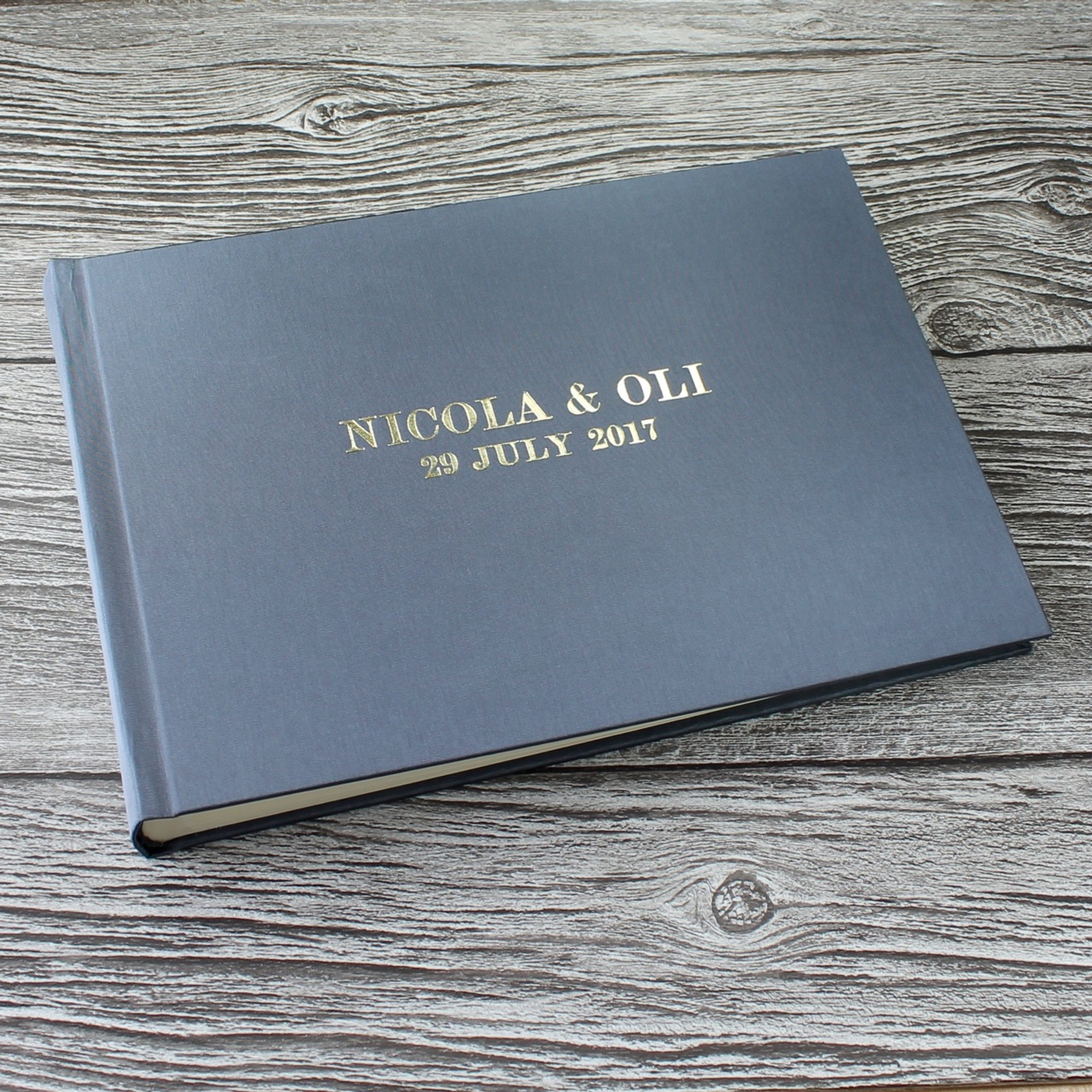Silver Grey Satin Photo Booth Guest Book Bespoke Album Company