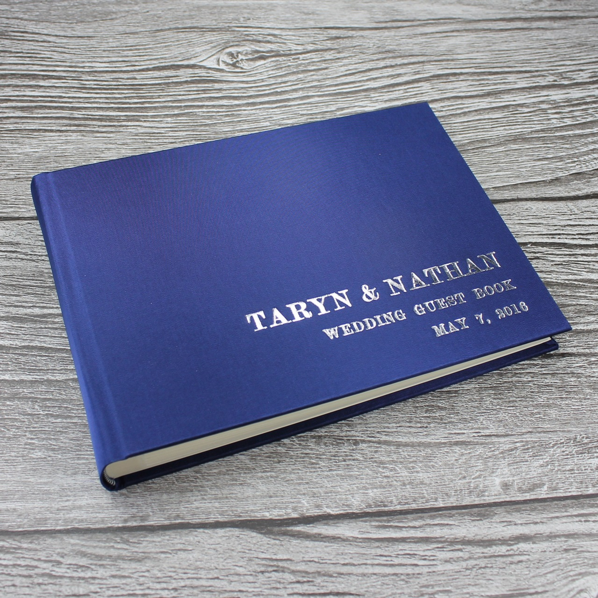 Midnight Blue Satin Photo Booth Guest Book Bespoke Album Company