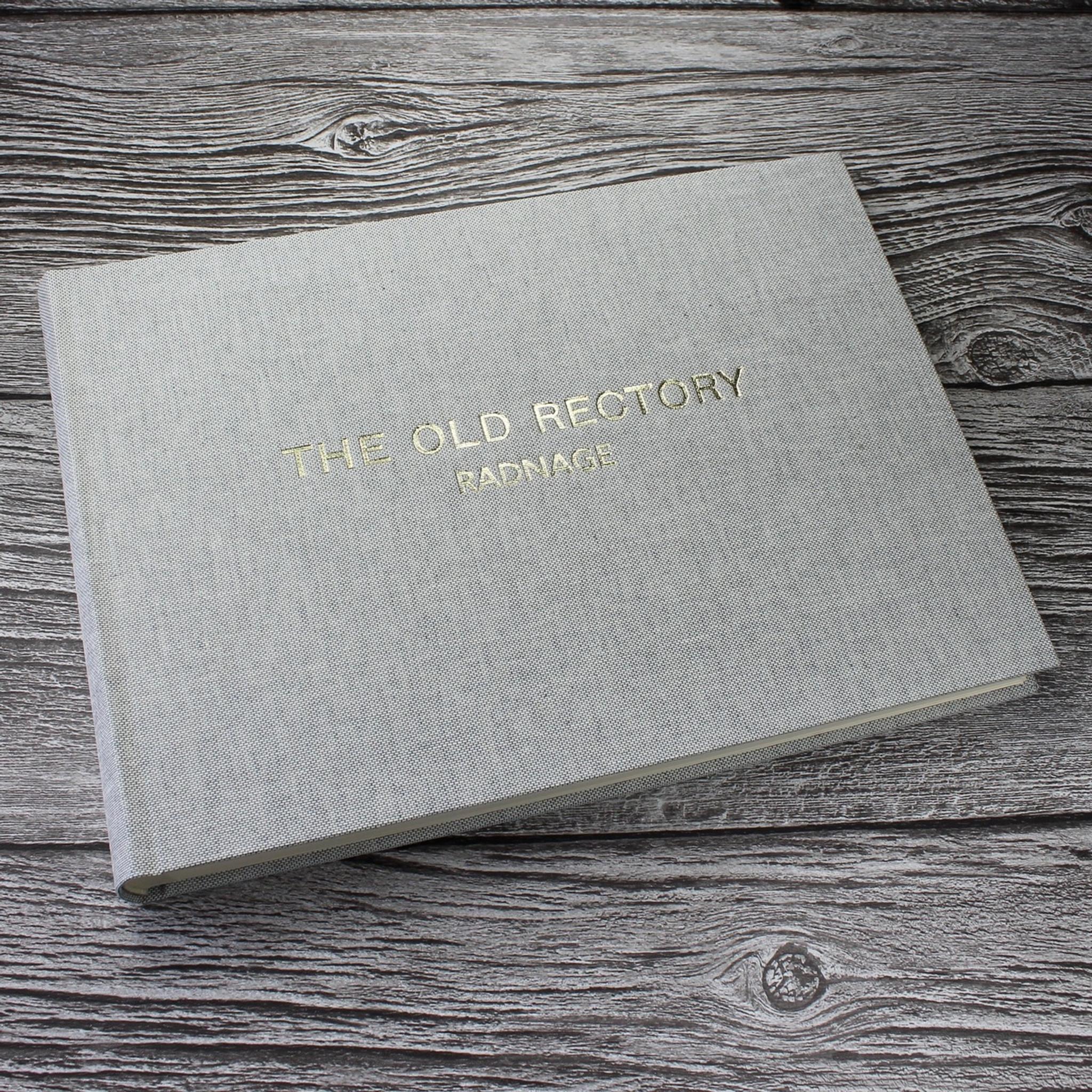 Grey Marl Linen Photo Booth Guest Book Bespoke Album Company
