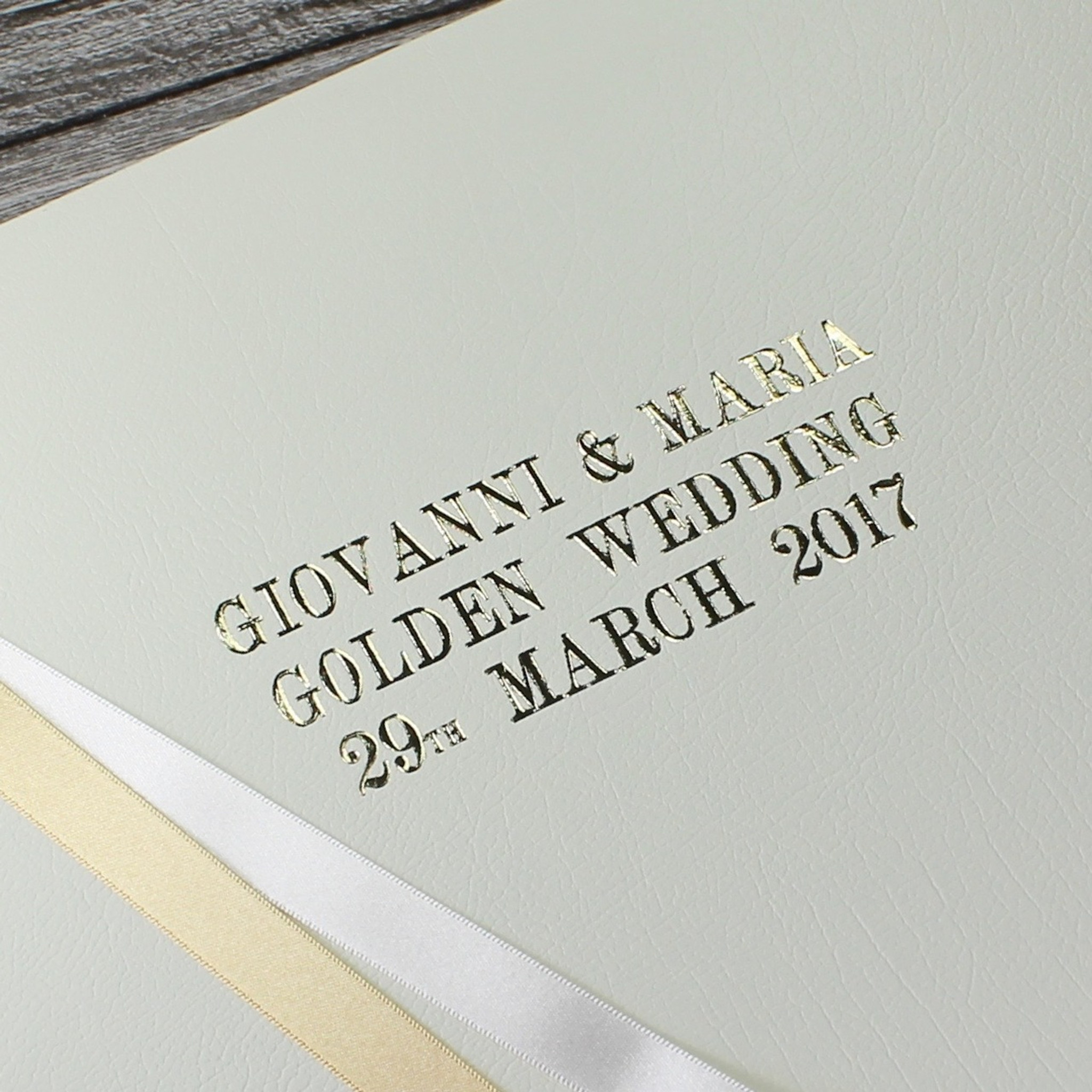 Gold 50th Wedding Anniversary Photo Album Bespoke Album Company