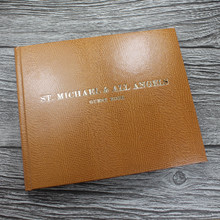Visitor Guest Book - Tan Lizard Effect Finish