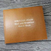 Visitor Guest Book - Tan Lizard Effect Finish