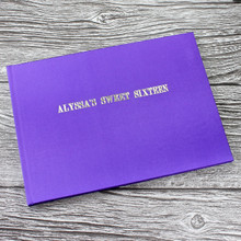 Purple Satin Wedding Guest Book