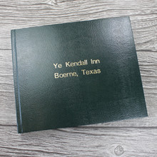 Visitor Guest Book - Dark Green Lizard Effect Finish