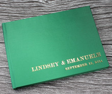 Bright Green Satin Wedding Guest Book
