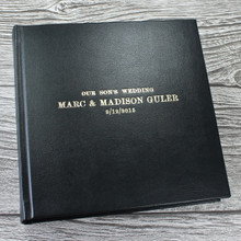 Traditional Classic Black Leather Photo Album