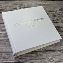 Traditional Classic White Leather Photo Album