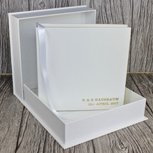 White Leather Clamshell Box (Box Only)