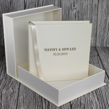 Ivory Leather Clamshell Box (Box Only)