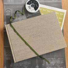 Contemporary Natural Oatmeal Linen Photo Album