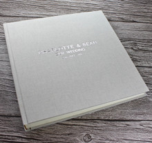 Contemporary Misty Blue Linen Photo Album