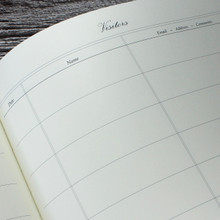 Visitor Guest Book - Emerald Green Mamba Effect Leather