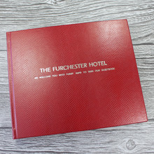 Visitor Guest Book - Berry Red Mamba Effect Leather