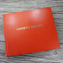 Visitor Guest Book - Orange Lizard Effect Finish