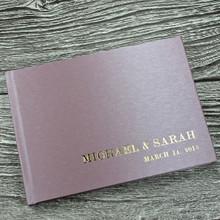 Dusky Lilac Japanese Silk Effect Wedding Guest Book