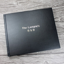 Visitor Guest Book - Black Leather