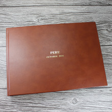 Traditional Classic Tan Leather Photo Album