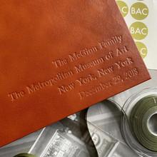 Traditional Classic Tan Leather Photo Album