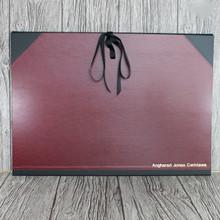 A2 Burgundy & Black Art Portfolio / Cachet Portfolio