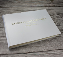 Platinum Silver Satin Photo Booth Guest Book