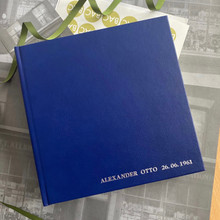 Traditional Classic Royal Blue Leather Photo Album