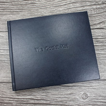 Visitor Guest Book - Navy Blue Leather