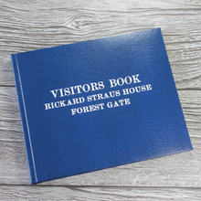 Visitor Guest Book - Royal Blue Lizard Effect Finish