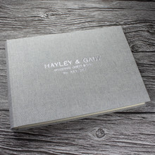 Grey Marl Linen Photo Booth Guest Book