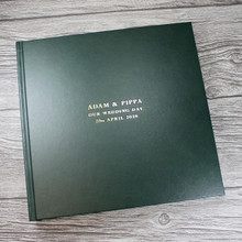Traditional Dark Green Leather Photo Album