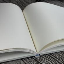 Misty Blue Linen Wedding Guest Book