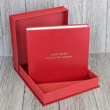 Red Leather Clamshell Box (Box Only)