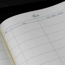 Visitor Guest Book - Yellow Lizard Effect Finish