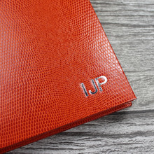 Personalised Address Book  - Orange Lizard Effect Finish