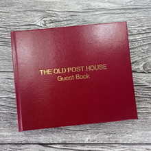 Visitor Guest Book - Red Lizard Effect Finish
