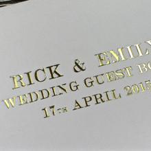 Ivory Satin Wedding Guest Book