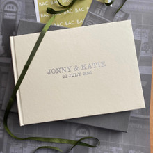 Ivory Leather Wedding Guest Book