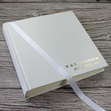 Classic White Leather Wedding Photo Album