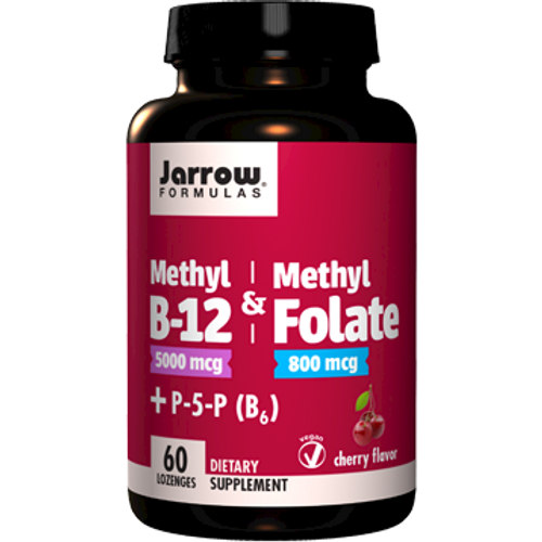 Methyl B-12 Methyl Folate Cherry 60 loz. by Jarrow