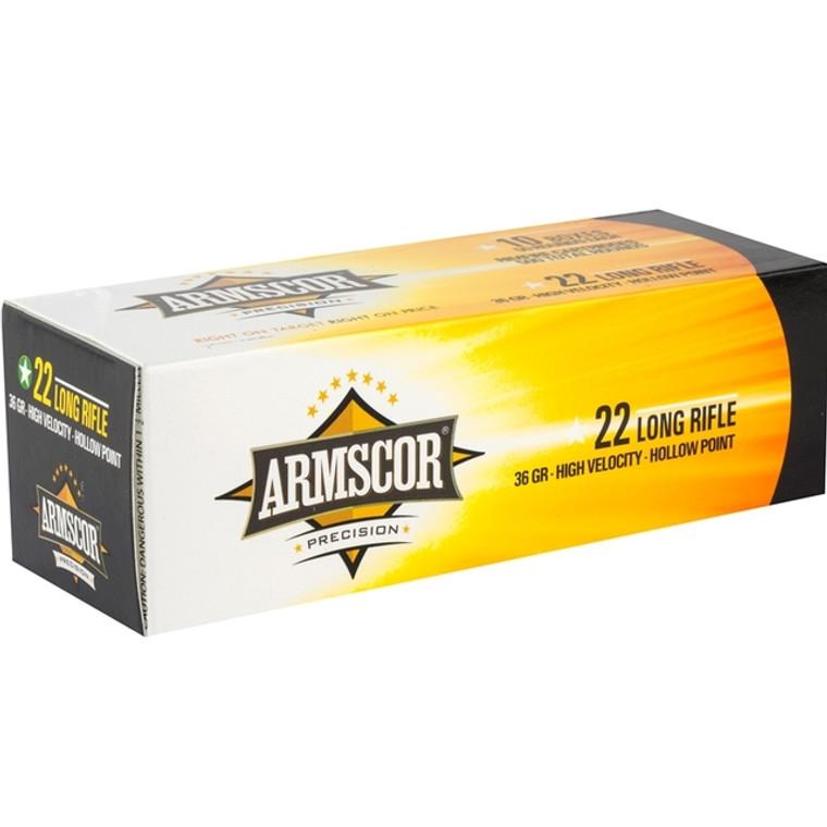 Armscor Precision 22 Long Rifle Ammo 36 Grain HVHP (500 Rounds)