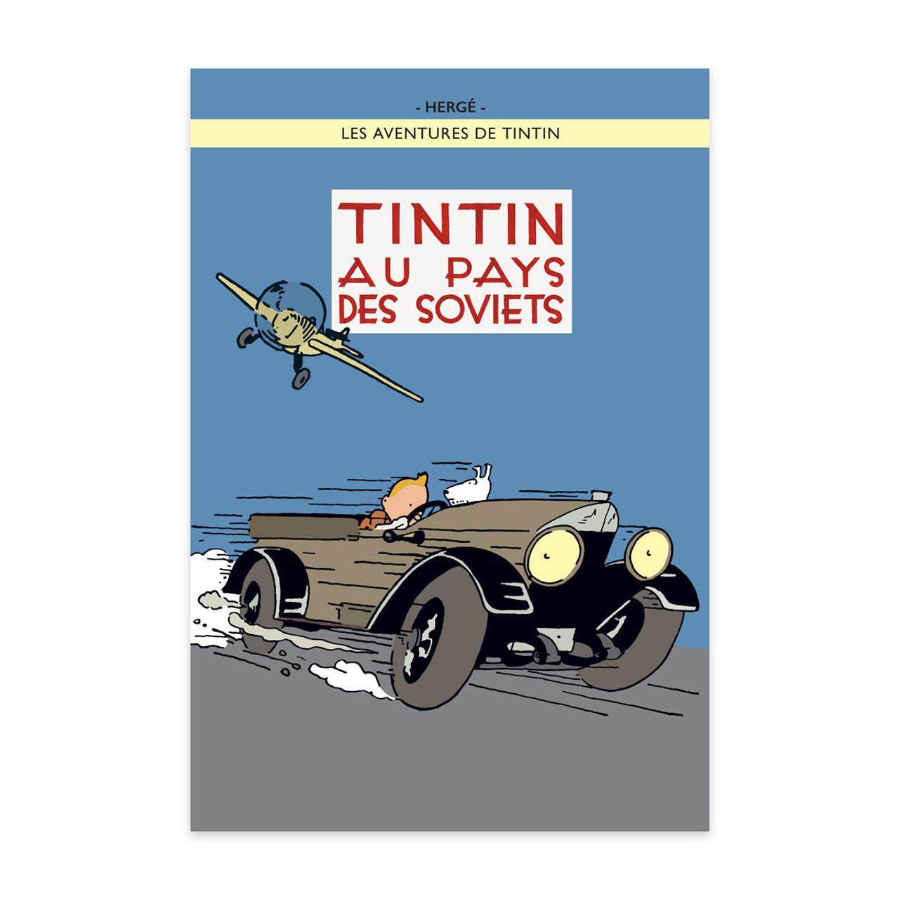 TINTIN POSTER 24 AU PAYS DES SOVIETS (COLOUR)