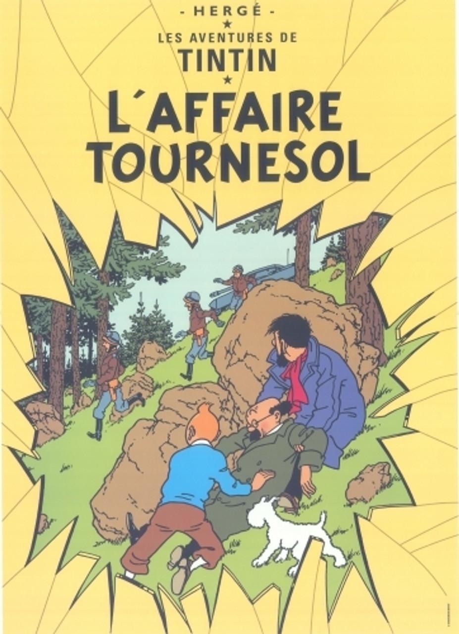 TINTIN POSTER 17 L'AFFAIRE TOURNESOL