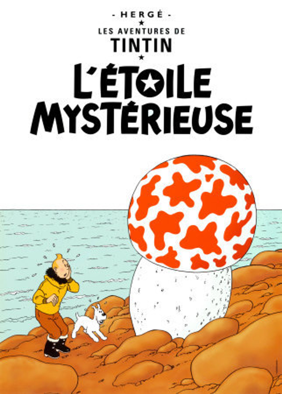 TINTIN POSTER 09 L'ETOILE MYSTERIEUSE
